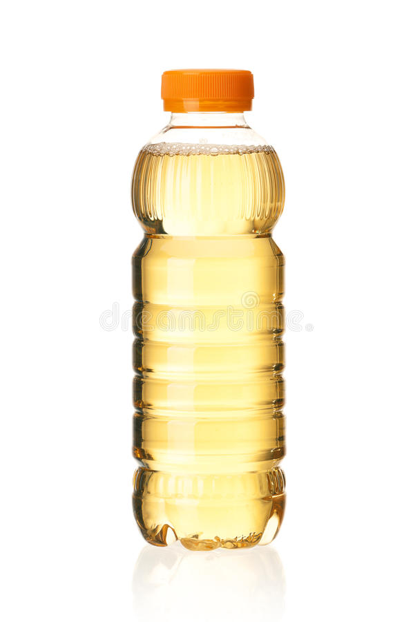 Bottled green tea. For healthy life over a white background royalty free stock image