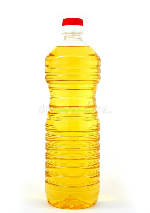 Bottled oil stock photo
