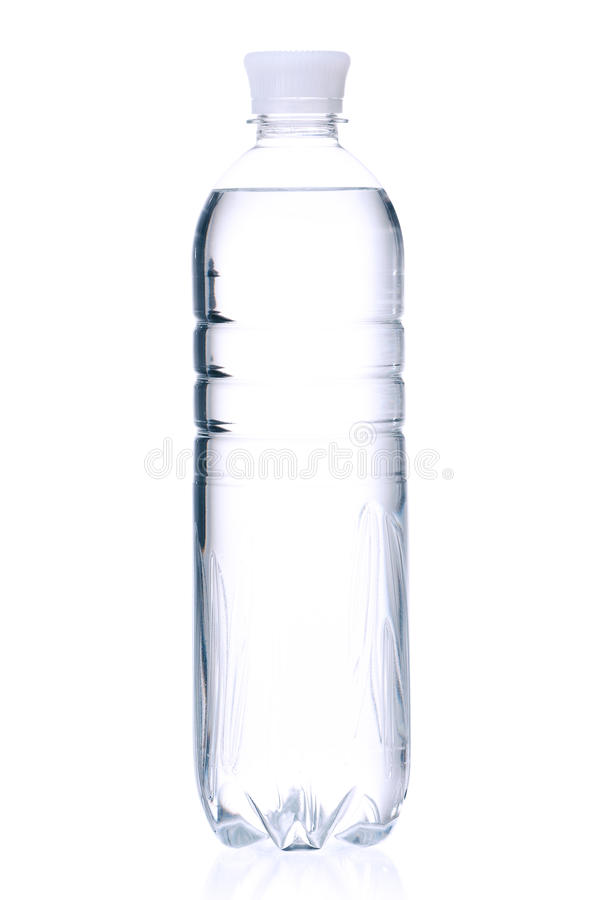 Bottled water. For healthy life over a white background royalty free stock photography