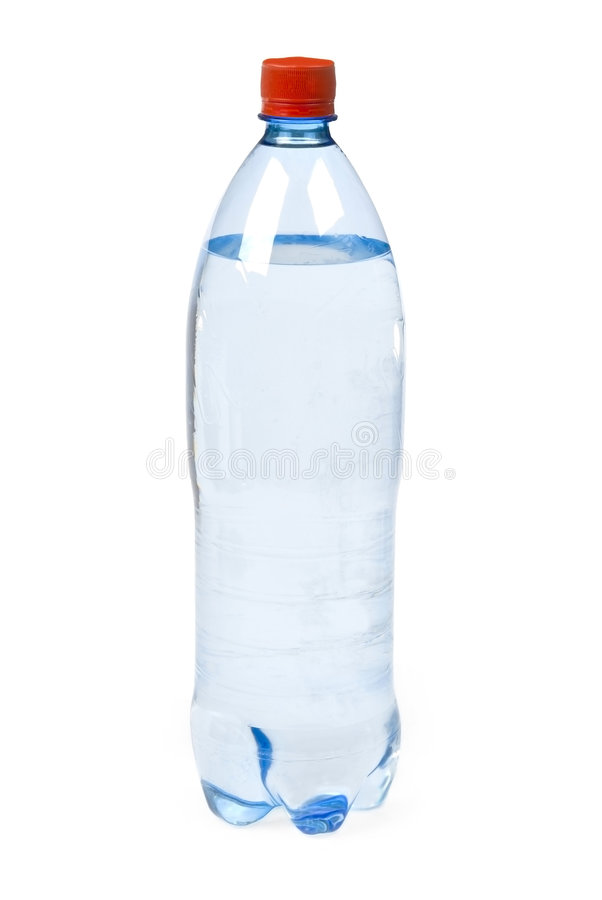 Bottled water. On white background royalty free stock images