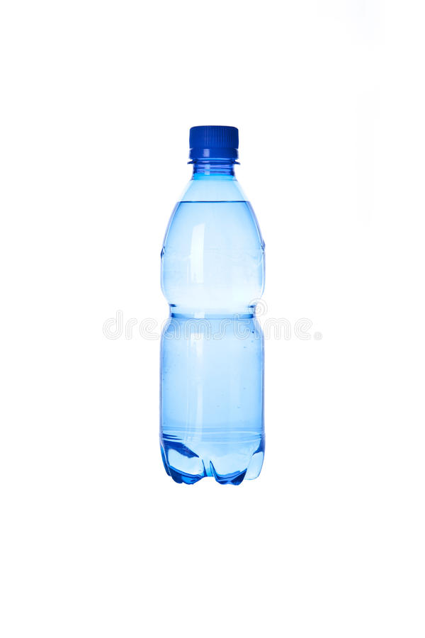 Bottled water isolated over a white background royalty free stock photo