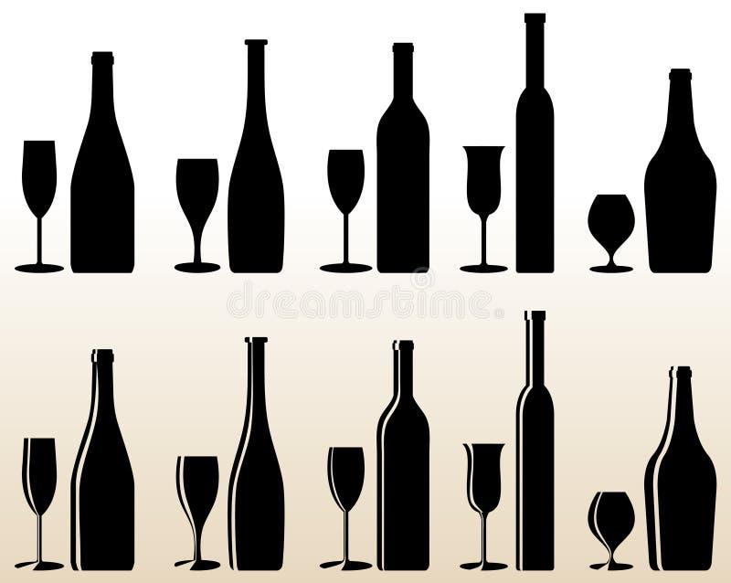 Bottleglass stock illustratie