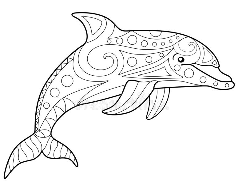 Coloring Dolphins Stock Illustrations – 144 Coloring Dolphins ... | 640x800