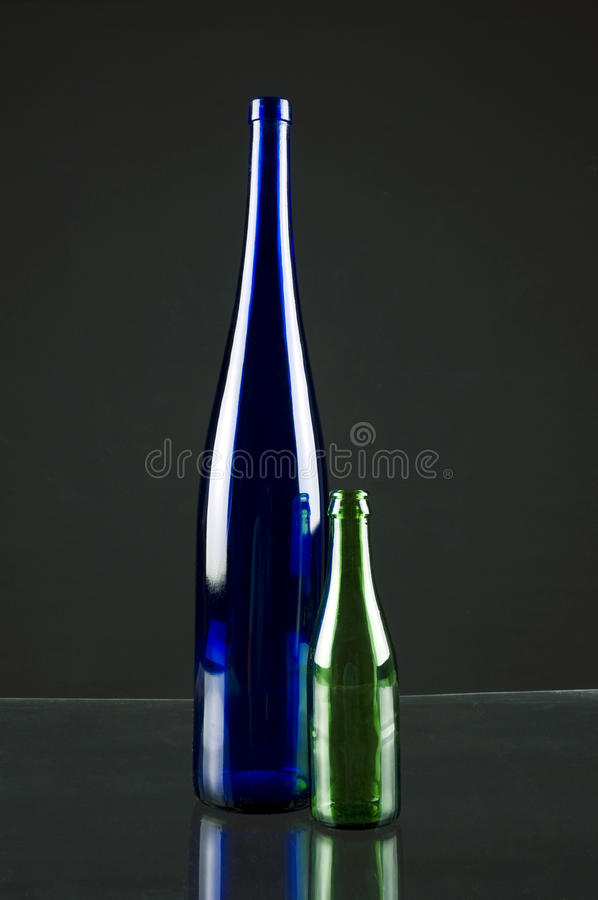 The bottles. Photo out of the lamp according to the three-dimensional bottle stock photography