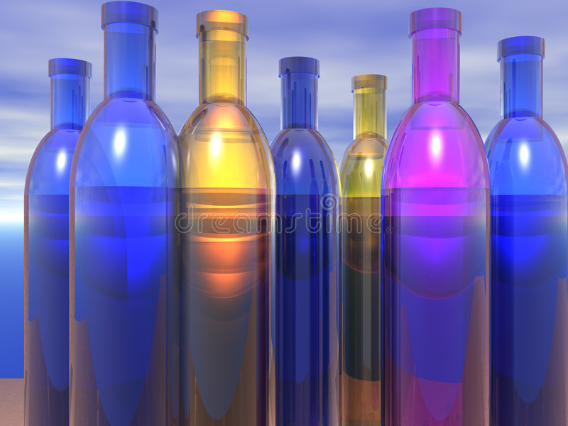 Download Bottles stock illustration. Image of many, cobalt, group - 2309018