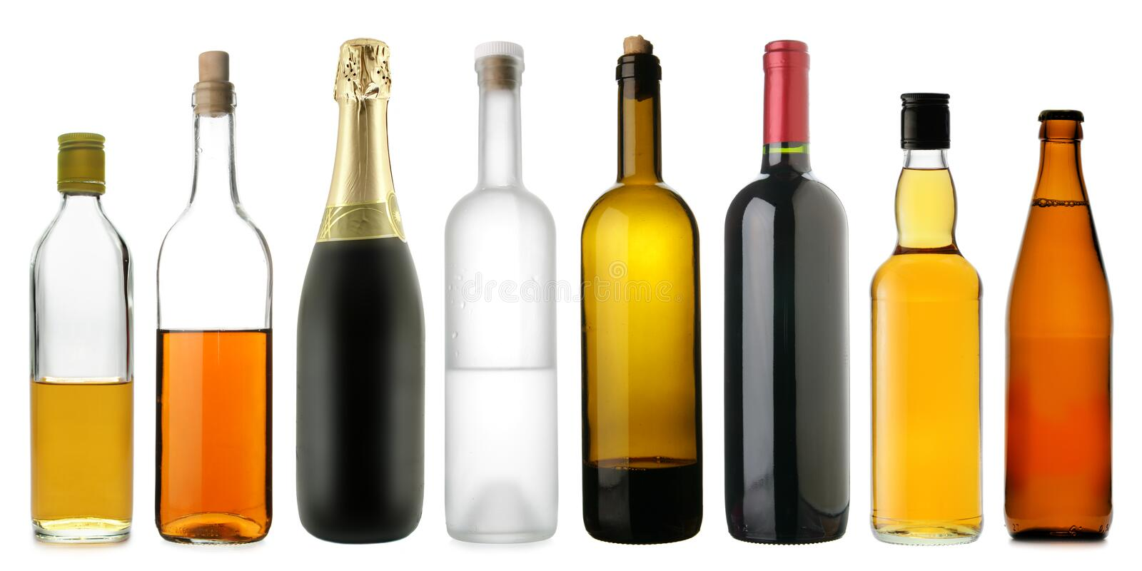 Download Bottles Of Alcoholic Drinks Stock Photo - Image of colour, multicoloured: 4651036