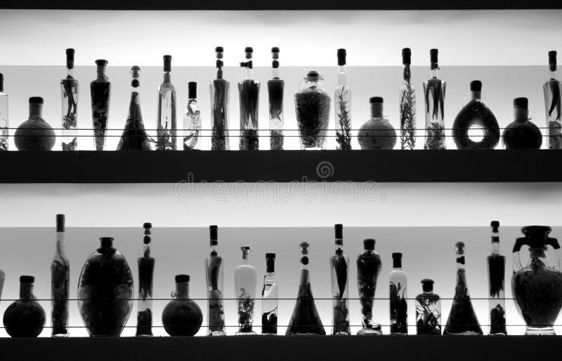 Bottles bar BN royalty free stock images