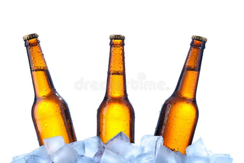 Download Bottles Of Beer On Ice Royalty Free Stock Photos - Image: 22046628