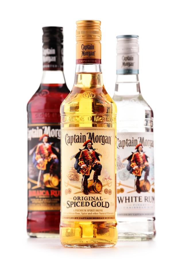 Bottles Of Captain Morgan Rum Isolated On White Editorial Stock Photo -  Image of spirits, brand: 110884838