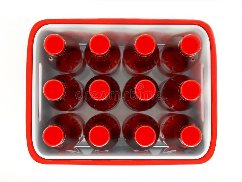 Bottles Case Royalty Free Stock Photo