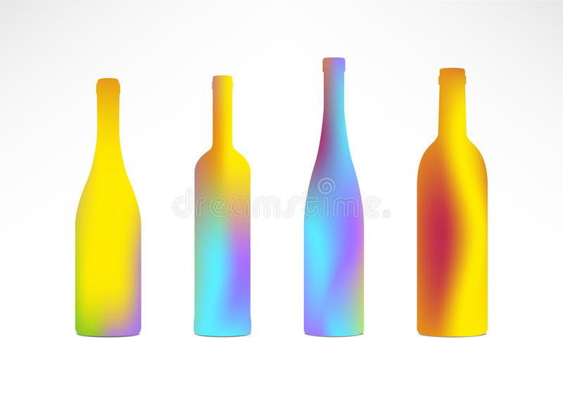 Download Bottles Color Gradient Silhouettes Stock Vector - Illustration of tending, bartending: 23828996
