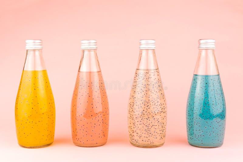 Basil seed drink stock image