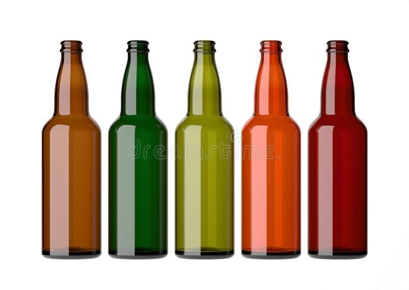 bottles färgrik tom white royaltyfri illustrationer