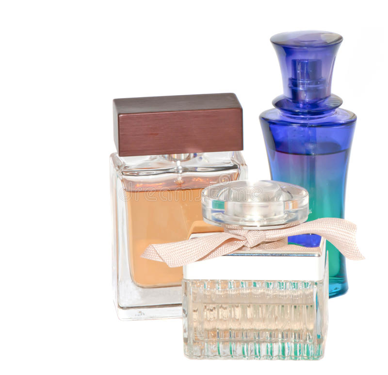 Bottles of female perfume royalty free stock photography