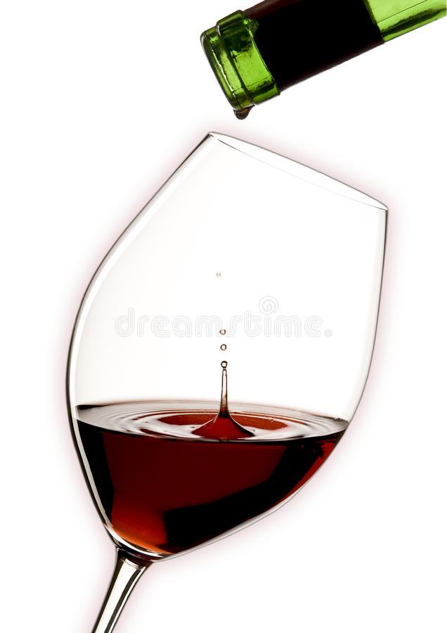 Bottles and glass of red wine royalty free stock photography