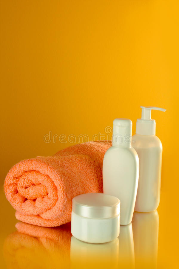 Download Bottles Of Health And Beauty Products Stock Photo - Image of bath, milk: 17131440