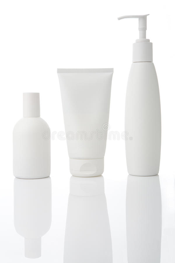 bottles lotion arkivfoton
