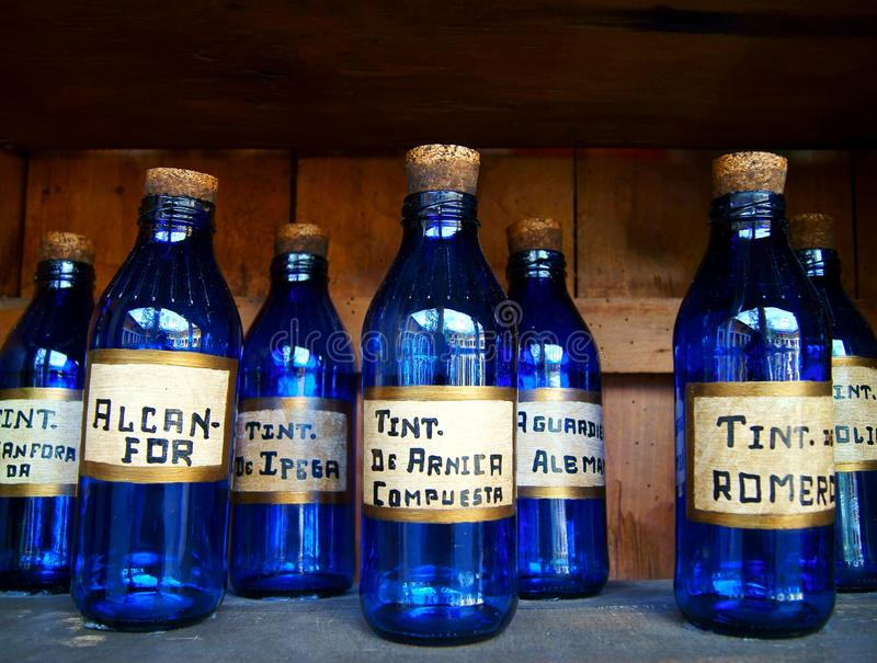 bottles medicinal royaltyfri fotografi