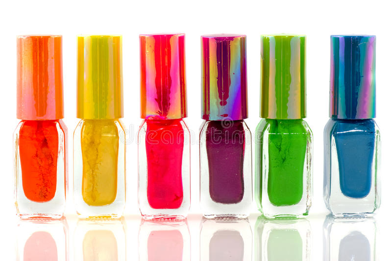 Bottles nail polish royalty free stock images