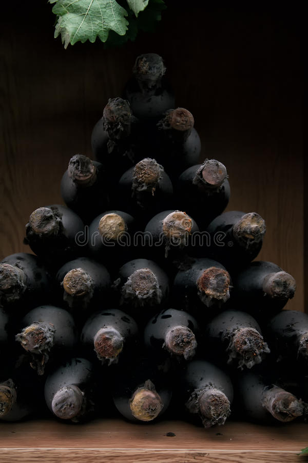 Free Bottles Of Wine With Long-term Storage. Stock Photos - 66270343