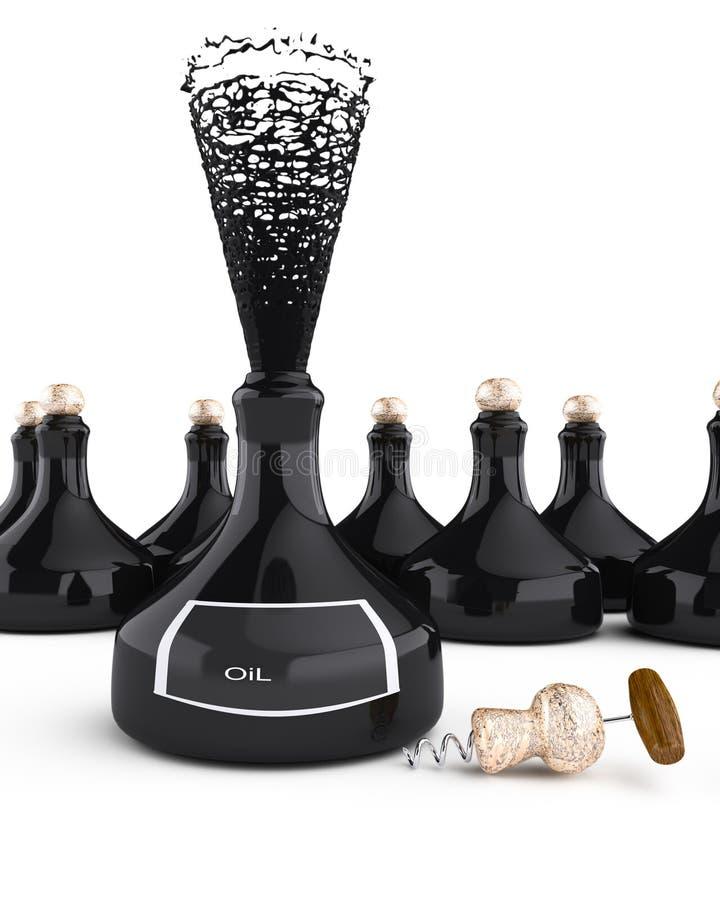Bottles of oil stock illustration