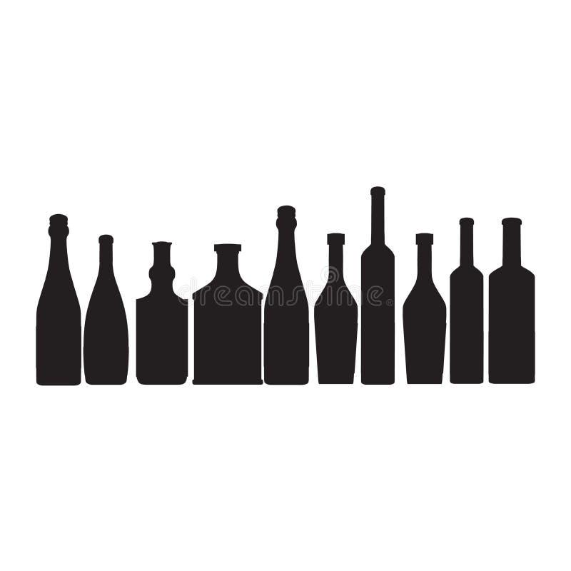 Download Bottles ouline  silhouette stock illustration. Image of cocktail - 23595013
