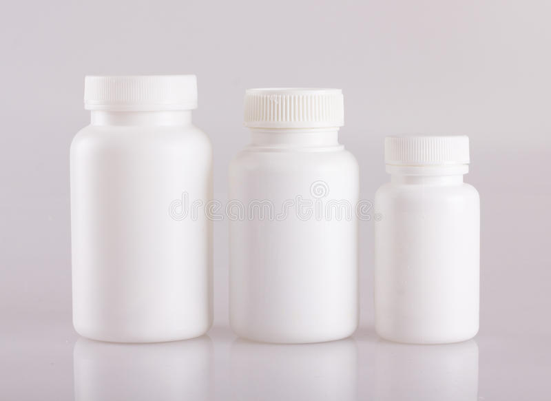 bottles pillen arkivfoto