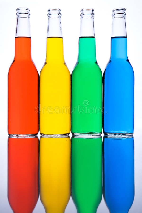 Free Bottles Red Yellow Green Blue Royalty Free Stock Image - 6263436