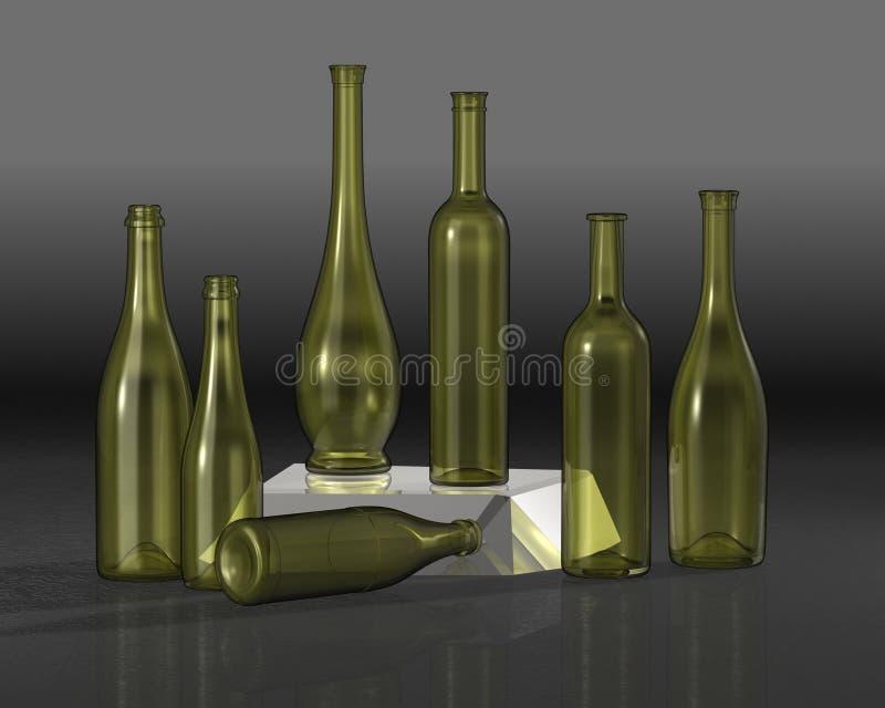 bottles sammansättning royaltyfri fotografi