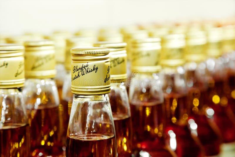 Bottles Of Scotch Blended Whisky Stock Photos
