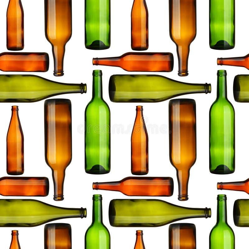 bottles seamless vektor illustrationer