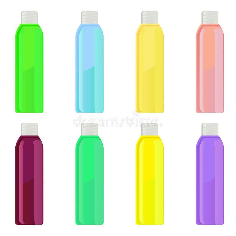 Download Bottles stock vector. Image of bottle, green, pink, shower - 31556838