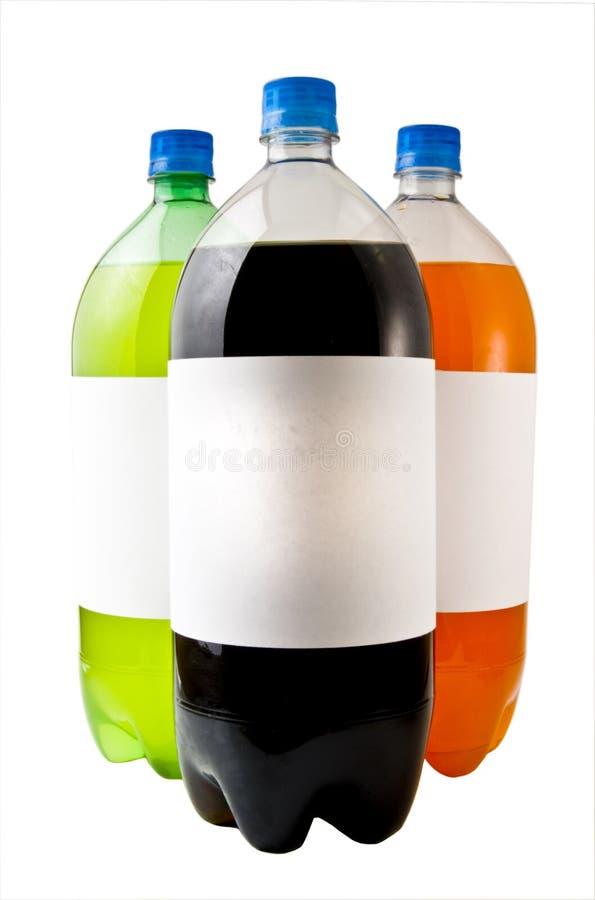 bottles sodavatten tre royaltyfria bilder