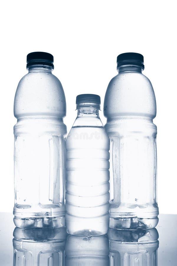 bottles vatten för mineral tre royaltyfri fotografi