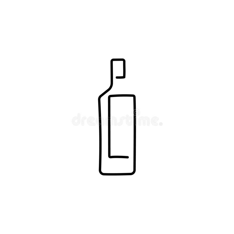 Bottles Vector illustration isolated on white background. Continuous line drawing. Vector monochrome, drawing by lines. vector illustration