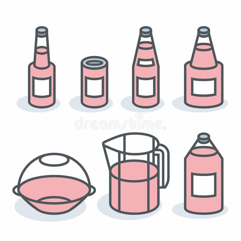 bottles vektorn royaltyfri illustrationer