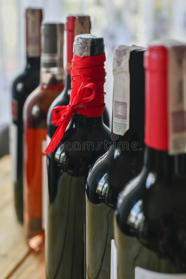 Bottles of vine royalty free stock photography