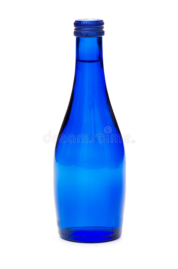 Bottles of water isolated stock images