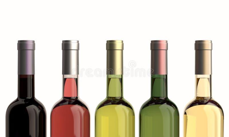 Bottles of wine stock illustration