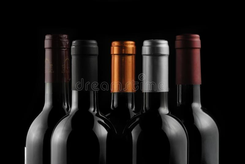 Download Bottles of wine stock image. Image of shadow, five, closeup - 26744995