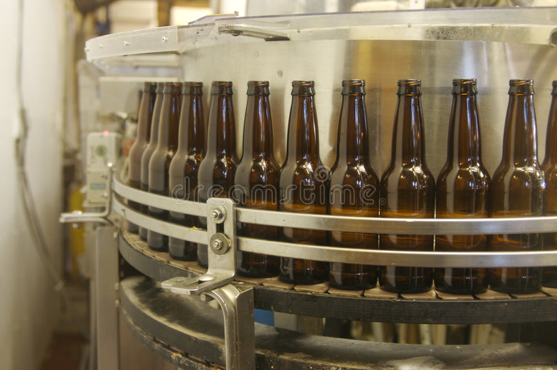 Bottling equipment royalty free stock photos