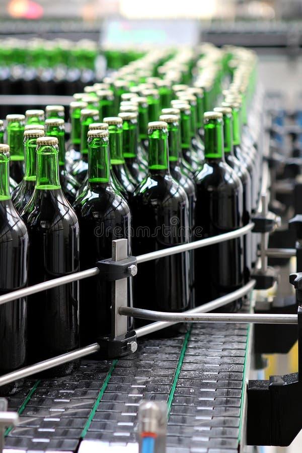 Bottling plant. Detail fom the bottling plant stock images