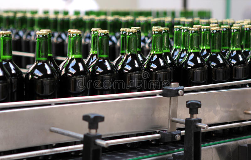 Bottling plant. Detail from the bottling plant royalty free stock photography