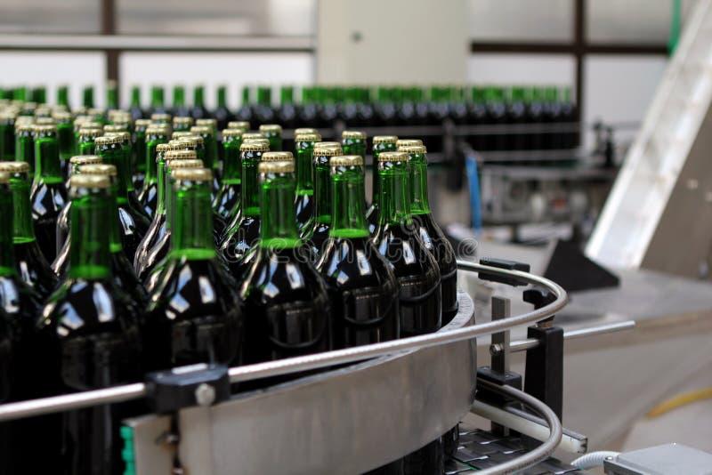 Bottling plant. Detail from the bottling plant stock images