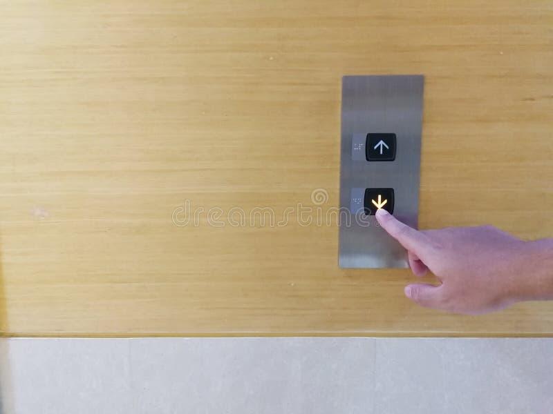 Bottom elevator for Down floor royalty free stock photo