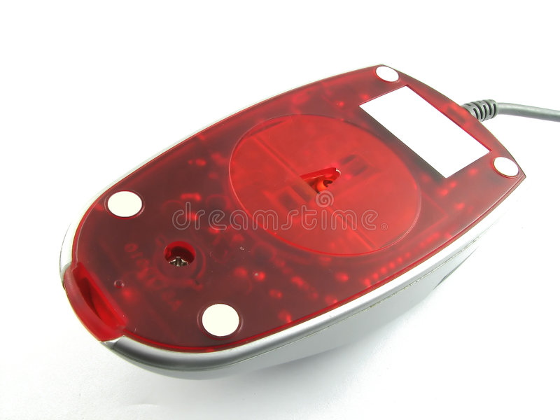 Bottom of an infrared computer mouse royalty free stock photo