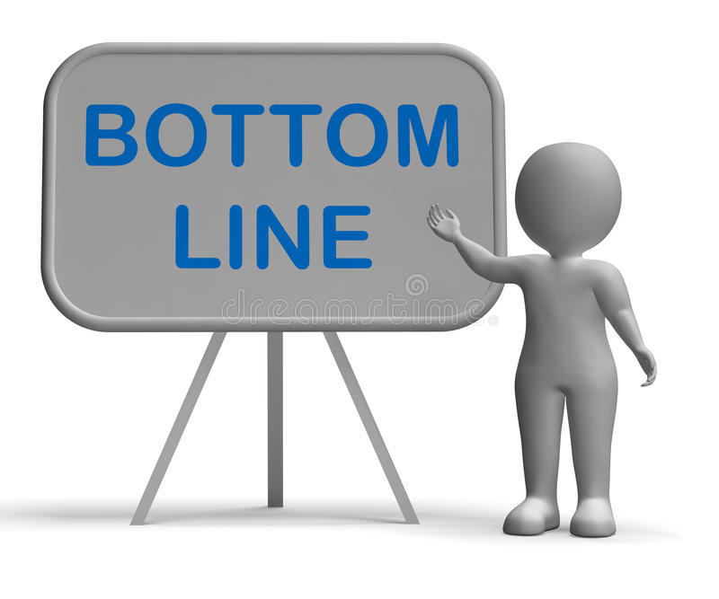Bottom Line Whiteboard Shows Reduce Costs Grow Income vector illustration