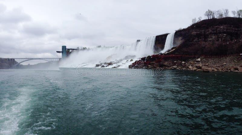 Bottom of Niagara Falls royalty free stock images