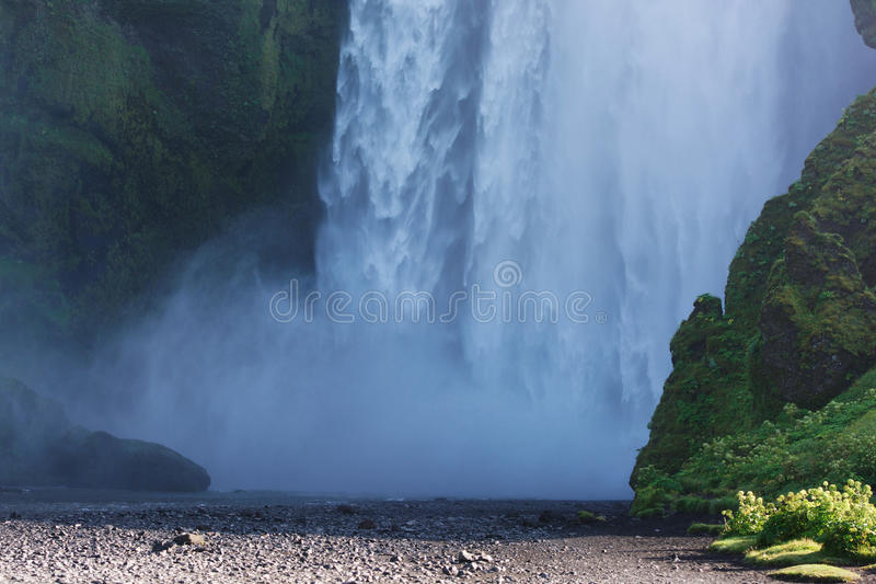 Download Bottom Part Of Skogafoss Waterfall, South Iceland Stock Image - Image of nature, beautiful: 38171125