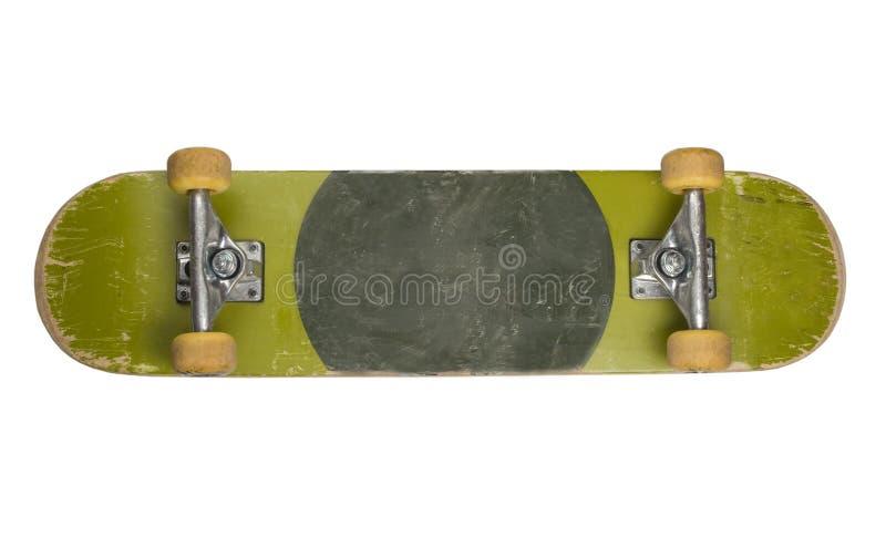 Bottom of Skateboard on White Background royalty free stock image